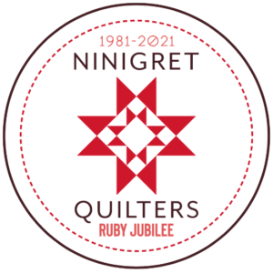 Ninigret Quilters Ruby Jubilee Emblem